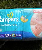 Pampers 4 7-14 kg Maxi Pack 62 ks