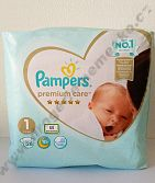 Pampers Premium Care 1 2-5 kg 26 ks